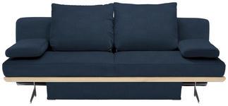 SCHLAFSOFA in Textil Dunkelblau - Chromfarben/Dunkelblau, Design, Textil/Metall (215/96/103cm) - Dieter Knoll