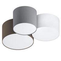 DECKENLEUCHTE - Anthrazit/Braun, KONVENTIONELL, Textil/Metall (61/49,5/25,5cm)
