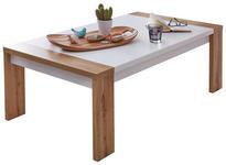 COUCHTISCH rechteckig Weiß, Eichefarben  - Eichefarben/Weiß, Design (120/67/40cm) - Xora