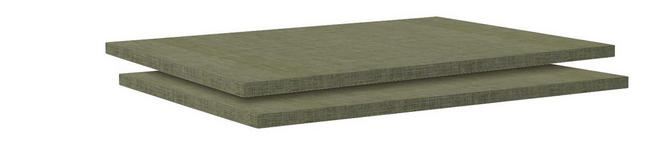 Einlegebodenset Unit - Braun, MODERN, Holzwerkstoff (87,9/1,8/54,4cm) - Ombra