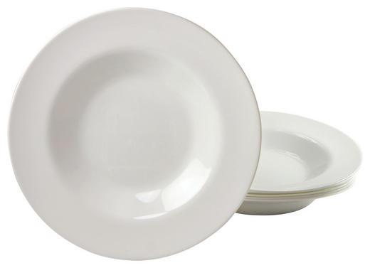 PASTATELLER, 6ER SET 29// cm - Weiß, Basics, Glas (29//cm) - Creatable
