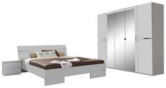SPAVAĆA SOBA - bijela, Design, staklo/drvni materijal (180/200cm) - Boxxx