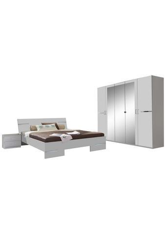 SPAVAĆA SOBA bijela   - bijela, Design, staklo/drvni materijal (180/200cm) - Boxxx