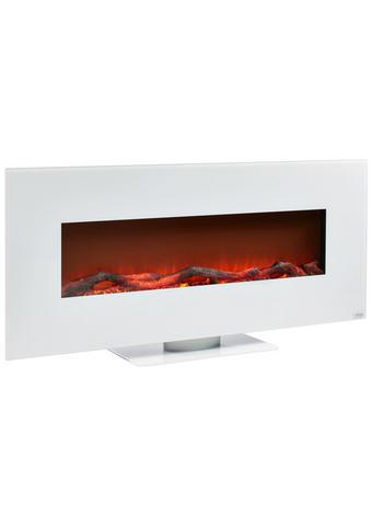 ELEKTROKAMIN Metall, Glas  - Weiß, Design, Glas/Metall (128/55/14cm) - Xora