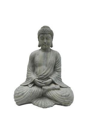 BUDDHA - grå, Lifestyle, plast (36/45/25,5cm) - Ambia Home