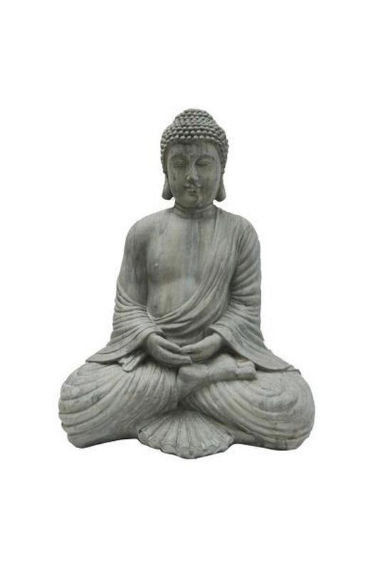 BUDDHA 36 45  cm - Grau, LIFESTYLE, Kunststoff (36 45 cm) - Ambia Home
