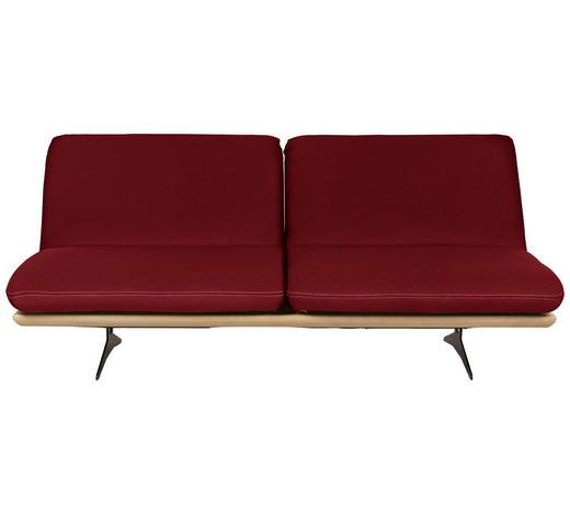 SCHLAFSOFA in Holz, Textil Dunkelrot  - Beige/Schwarz, Design, Holz/Textil (204/92/90cm) - Dieter Knoll
