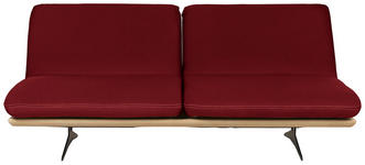 SCHLAFSOFA in Holz, Textil Dunkelrot - Schwarz/Dunkelrot, Design, Holz/Textil (204/92/90cm) - Dieter Knoll