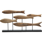 SKULPTUR - Naturfarben, Design, Holz/Metall (69/35/8cm)