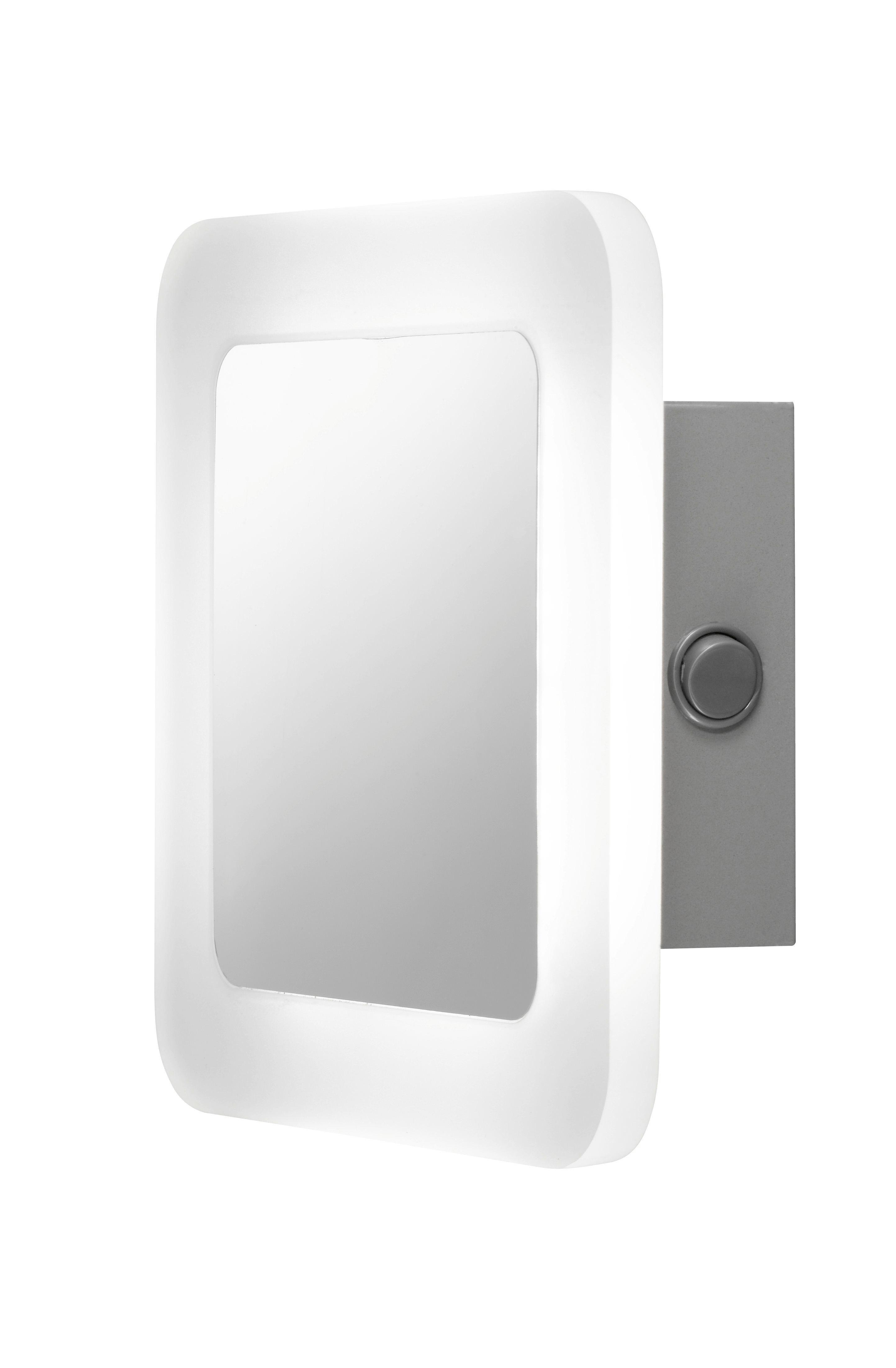 LED-WANDLEUCHTE - Chromfarben, Design, Kunststoff/Metall (17,5/6,5/17,5cm)