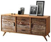 SIDEBOARD Akazie massiv lackiert - Schwarz, LIFESTYLE, Holz/Metall (175/77/45cm) - Hom`in