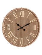 STENSKA URA  naravna, jesen 60 cm  - naravna/jesen, Basics, kovina/les (60cm) - Ambia Home