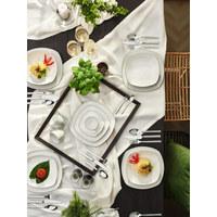 Porzellan  KOMBISERVICE 30-teilig   - Schwarz/Weiß, Design, Keramik - Seltmann Weiden