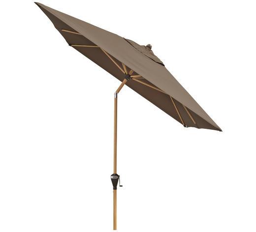 SONNENSCHIRM  300/200 cm - Greige/Eschefarben, Basics, Textil/Metall (300/200cm)
