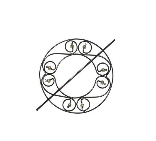 DEKORAČNÍ SPONA - antracitová, Konvenční, kov/sklo (16cm)