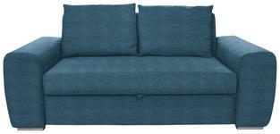SCHLAFSOFA Dunkelblau - Chromfarben/Dunkelblau, Design, Holz/Textil (199/92/97cm) - Hom`in