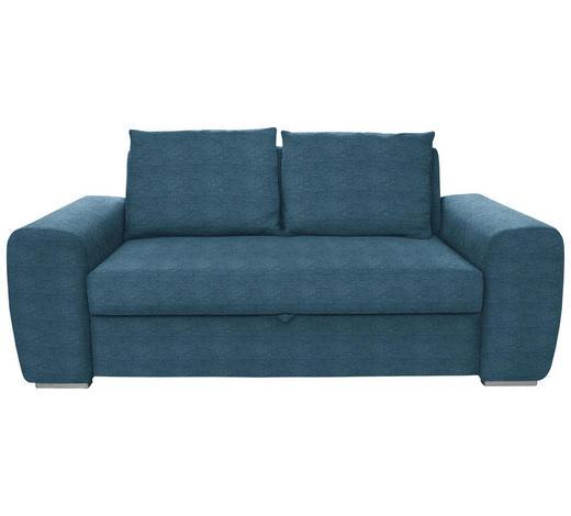 SCHLAFSOFA in Textil Dunkelblau  - Chromfarben/Dunkelblau, Design, Holz/Textil (199/92/97cm) - Hom`in