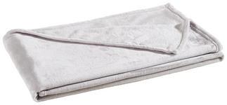 WOHNDECKE 140/190 cm Silberfarben  - Silberfarben, KONVENTIONELL, Textil (140/190cm) - Novel
