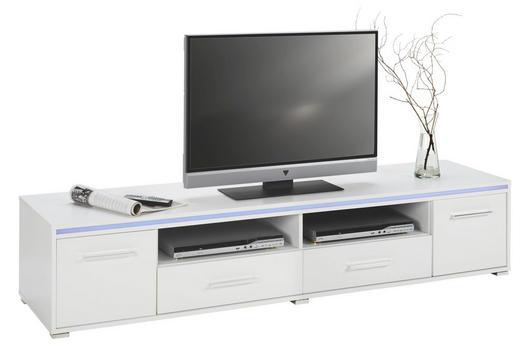 TV-ELEMENT Schwarz, Weiß - Silberfarben/Schwarz, Design, Kunststoff (188/38/45cm)