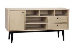 SIDEBOARD - vit/svart, Design, trä (150/78/45cm) - Rowico