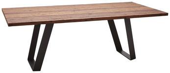 ESSTISCH in Holz 220/110/77 cm   - Lärchefarben/Schwarz, Design, Holz/Metall (220/110/77cm) - Dieter Knoll