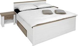 BETTANLAGE in Weiß, Trüffeleichefarben  - Trüffeleichefarben/Weiß, LIFESTYLE, Holzwerkstoff (180/200cm) - Carryhome