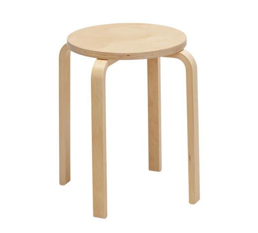 STAPELHOCKER - Birkefarben, Basics, Holz (32,5/45/32,5cm) - Carryhome