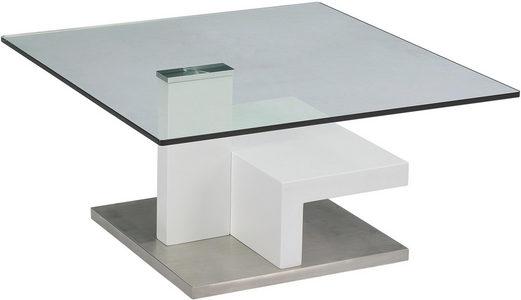 STOČIĆ ZA KAFU - Bela/Boja nerđajućeg čelika, Dizajnerski, Metal/Staklo (80/40/80cm) - Xora