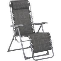 GARTEN RELAXSESSEL Stahl   Anthrazit/Silberfarben, Design,  Kunststoff/Textil (91 ...