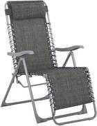 GARTEN-RELAXSESSEL in - Anthrazit/Silberfarben, Design, Kunststoff/Textil (91/64/110cm) - XORA
