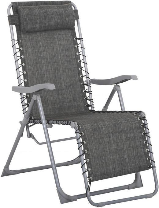 GARTEN-RELAXSESSEL Stahl - Anthrazit/Silberfarben, Design, Kunststoff/Textil (91/64/110cm) - Xora