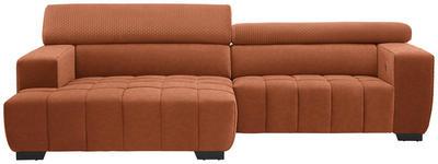 WOHNLANDSCHAFT in Textil Orange  - Schwarz/Orange, KONVENTIONELL, Textil/Metall (182/279cm) - Hom`in