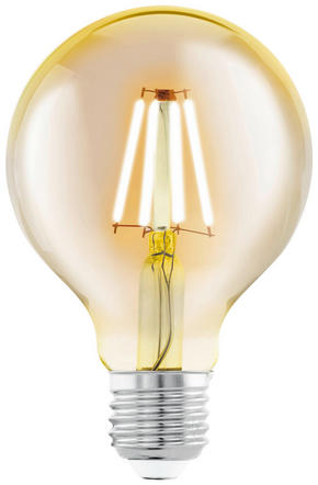 LED - klar/guldfärgad, Basics, glas (12,5cm)