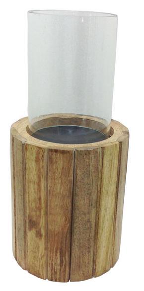 LJUSLYKTA - klar/brun, Lifestyle, glas/trä (12,5/28cm) - Ambia Home