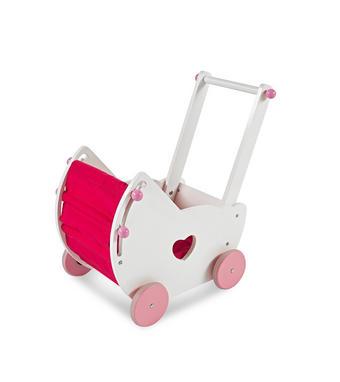 PUPPENWAGEN - Pink/Weiß, Natur, Holz/Holzwerkstoff (47,5/30,5/48cm) - My Baby Lou