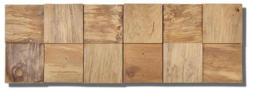 WANDVERKLEIDUNG - Teakfarben, Holz (52,2 cm/18,4 cm/1-2cm)