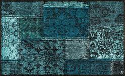 FUßMATTE 75/120 cm Graphik Türkis  - Türkis, Kunststoff/Textil (75/120cm) - Esposa