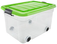 AUFBEWAHRUNGSBOX 53/40/32 cm - Transparent/Grün, Basics, Kunststoff (53/40/32cm) - Homeware