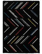 WEBTEPPICH  120/170 cm  Multicolor, Schwarz, Weiß   - Multicolor/Schwarz, Textil (120/170cm)