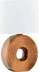 TISCHLEUCHTE - Weiß/Bronzefarben, Design, Keramik/Textil (38cm)