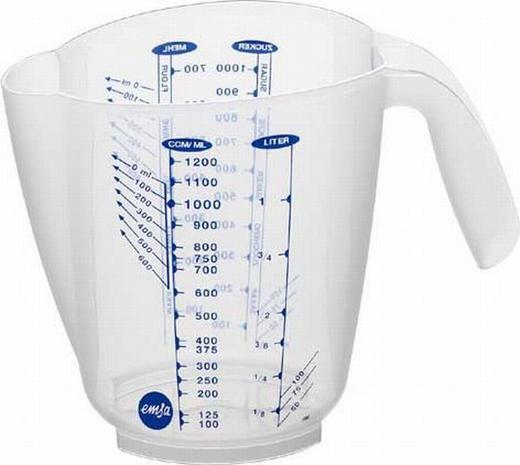 MESSBECHER - Transparent, Basics, Kunststoff (0,5l) - Emsa