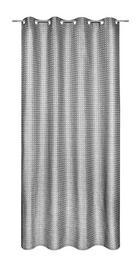 ÖSENSCHAL  halbtransparent   140/245 cm - Schwarz, Textil (140/245cm)