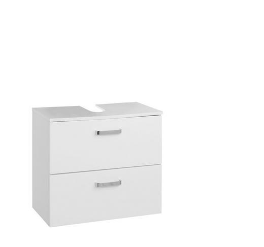 WASCHBECKENUNTERSCHRANK Weiß - Chromfarben/Silberfarben, Design, Holzwerkstoff/Kunststoff (60/54/35cm) - Carryhome