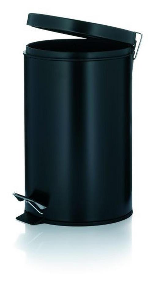 TRETEIMER 12 L - Schwarz, Basics, Kunststoff/Metall (25/39cm)