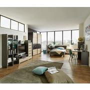 jugendzimmer eichefarben graphitfarben eichefarben graphitfarben konventionell glas 120 200cm