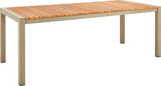 GARTENTISCH - Champagner/Naturfarben, Design, Holz/Metall (90/74/210cm) - Ambia Garden