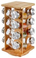 GEWÜRZKARUSSELL - Basics, Glas/Holz (15,3/15,3/30,3cm) - Justinus