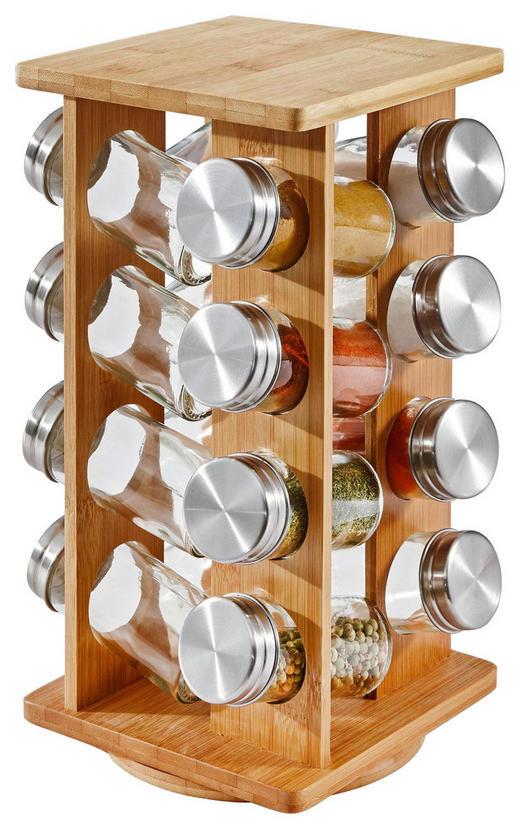 GEWÜRZKARUSSELL - Braun, Basics, Glas/Holz (15,3/15,3/30,3cm) - Justinus