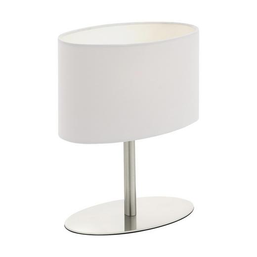 TISCHLEUCHTE - Weiß, KONVENTIONELL, Textil/Metall (20/10/25cm) - Boxxx
