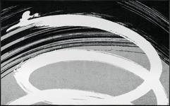 FUßMATTE 115/175 cm Graphik Grau, Schwarz, Weiß - Schwarz/Weiß, Basics, Kunststoff/Textil (115/175cm) - Esposa
